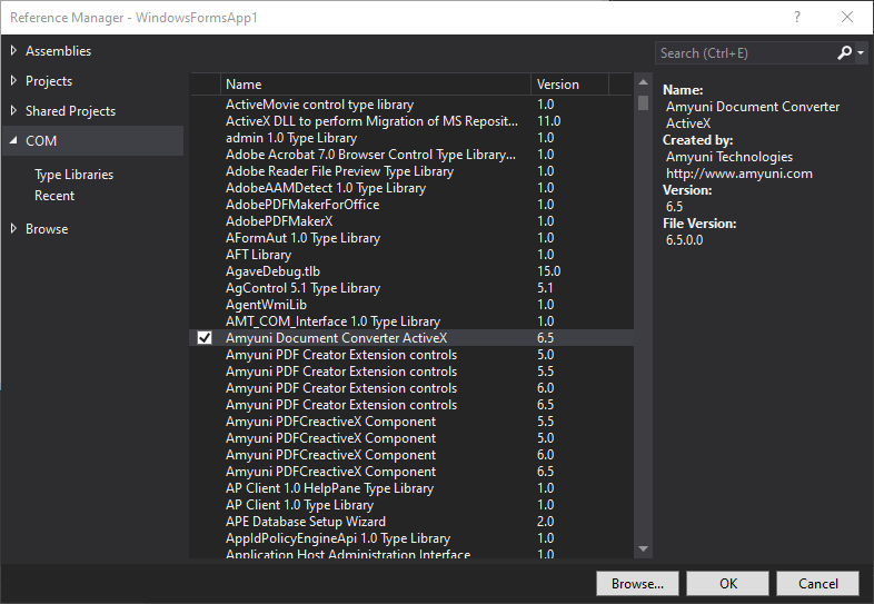 ActiveX Interface
