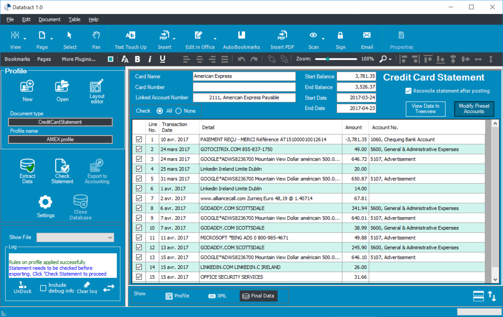 Datatract Screenshot 2